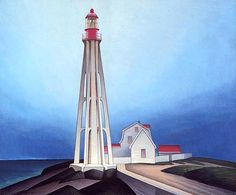 The Group of Seven - Lighthouse, Father Point by Lawren Harris