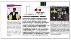 Mana Projects Press Releases on winning 2 Asia pacific property awards.