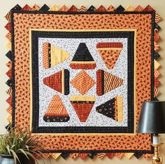 Halloween quilts are just plain fun to make. It's not a traditional, heirloom category, so we quilters can really let go and get crazy!