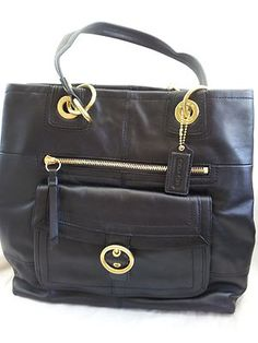ON SALE THIS WEEK $227.99 ♥NWT COACH PENELOPE BLACK LEATHER LARGE TOTE 18890♥MSRP 458♥FREE SKINNY MINI♥