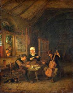 TICMUSart: Village Musicians - Adriaen van Ostade (1655) (I.M.)