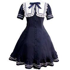 Partiss Women's Lovely Cotton Lolita One-Piec Dress XL Dark Navy Partiss http://www.amazon.com/dp/B01D8GCRJO/ref=cm_sw_r_pi_dp_Bcj-wb11AN1PG