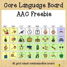 32 grid core language board freebie If you like this check out my full listings for Flip Communication booksAAC Flip Communication Book for an easy print and go book with 38 fringe vocabulary tabs. or the...PERSONALIZED Flip Communication Book for a customized book with 119 words of your choosing Activities For Autistic Children, Preschool Special Education, Speech Language Pathology, Speech And Language, Communication Book, Language Development, Word Pictures, Folder Games, File Folder