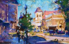 "Daily Paintworks - ""Main Street"" - Original Fine Art for Sale - © Sabrina Zhou"