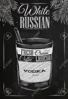 36671549-White-russian-cocktail-in-vintage-style-stylized-drawing-with--Stock-Photo.jpg (892×1300)