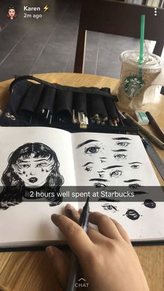 Stiftmappe selbst nähen Sketchbook Drawings, Art Sketches, Art Drawings, Sketching, Art Inspo, Sketchbook Inspiration, Deathly Hallows Tattoo, Art Hoe, Painting & Drawing