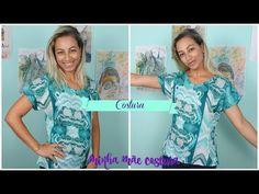 COSTURANDO BLUSA COM MANGA JAPONESA MINHA MÃE COSTURA - YouTube Lily Pulitzer, Sewing Patterns, Stitch, Blouse, Youtube, How To Wear, Academia, Dresses, Women
