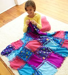 Starry Sky Knot-A-Quilt No Sew Craft Kit