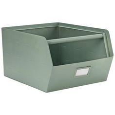 A sea green metal storage box by KIDSDEPOT to tidy your room amd stuff. The storage boxes are stackable, choose your favourite colours and mix them. Kids Storage, Storage Bins, Stackable Storage Boxes, Utility Closet, Toddler Rooms, Kids Rooms, Grey Room, Kids Corner, Metal Box