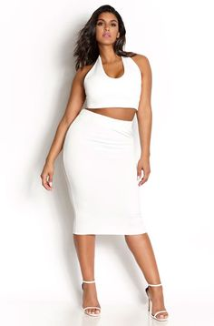 "REBDOLLS ""ALL NEW"" CRISP WHITE PONTE SET"