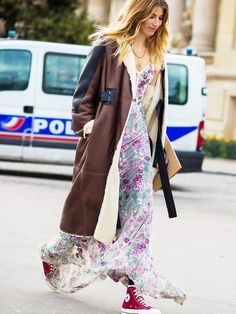 The Coolest Way to Wear a Maxi Dress via @WhoWhatWear