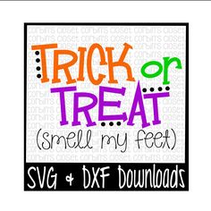 Halloween SVG * Trick or Treat Cut File - dxf & SVG Files - Silhouette Cameo/Cricut by CorbinsSVGCuts on Etsy
