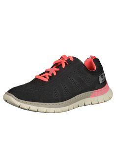#RIEKER #Damen #Sneaker #schwarz - Sportlicher Ledersneaker mit rahmengenähter, sehr leichter und flexibler Laufsohle. Dieser…