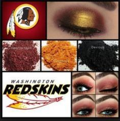 Who's ready for some football? Washington Redskins makeup colors! Click to find these eye shadow pigments now!