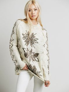 Free People Snowflake Reflection Pullover at Free People Clothing Boutique