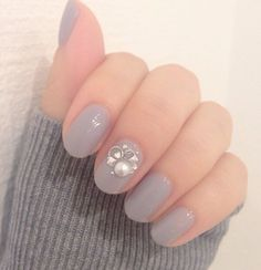 Autumn/ Winter grey (秋/冬の灰色) Love Nails, My Nails, Nails News, Nails 2015, Finger, Girls Nails, Hair Skin Nails, New Nail Art, Perfect Nails