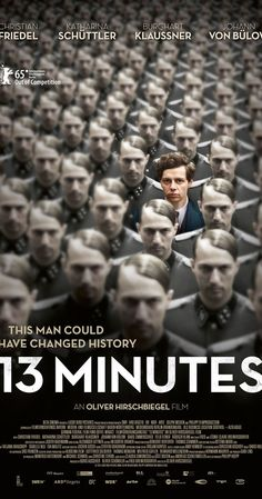 Directed by Oliver Hirschbiegel. With Christian Friedel, Katharina Schüttler, Burghart Klaußner, Johann von Bülow. In November 1939, Georg Elser's attempt to assassinate Adolf Hitler fails, and he is arrested. During his confinement, he recalls the events leading up to his plot and his reasons for deciding to take such drastic action.