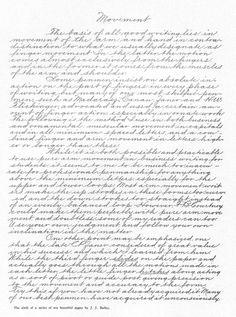 Handwriting movements