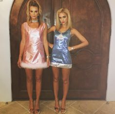 What Celebrities Wore To Celebrate Halloween This Year #refinery29  http://www.refinery29.com/2015/10/96704/best-celebrity-halloween-costumes-2015#slide-2  Jessica Alba, did you bring enough Post-Its to the party? Your Romy and Michelle costume is giving us flashbacks....