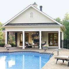 Farmhouse Plans: Pool House Plans