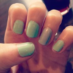 My mint and silver nails <3