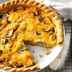 Mushroom & Leek Pie Recipe -In the Pacific Northwest, we make a savory pie with mushrooms and leeks. We prefer chanterelle, but baby portobello or oyster mushrooms will also delight your diners. —Vickie Woods, Salem, Oregon