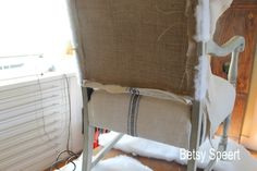 Betsy Speert's Blog: How to Upholster an Old Chair