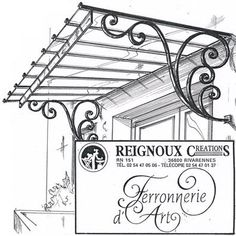 Great Snap Shots Wrought Iron canopy Strategies Dwelling adorning by using wrought iron will be as solid today as being the wrought iron metal itself. Iron Windows, Iron Doors, Gate Design, Door Design, Eisen Pergola, Wrought Iron Decor, Window Grill, Door Canopy, Iron Furniture