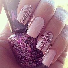 Pink and Cross Nails