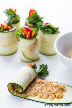 How to make the best Zucchini Roll Ups EVER! via simplyquinoa.com
