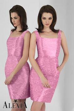 Possible bridesmaid dresses.Blush pink poly shantung cocktail length dress featuring a square tank neck line, accent belt, and pockets. Designer Bridesmaid Dresses, Short Bridesmaid Dresses, Bridal Dresses, Designer Dresses, Prom Dresses, Bridesmaids, Social Dresses, Dresses 2013, Cocktail Length Dress