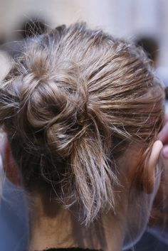 messy bun, clean life.