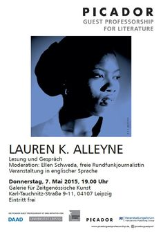 Reading with Lauren K. Alleyne in Leipzig on May 7 2015. Don't miss!