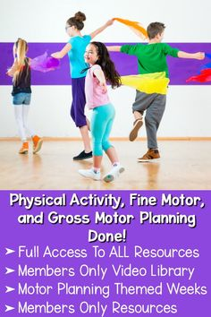 Ultimate Physical Activity and Motor Planning Membership 3 Year Old Activities, Fine Motor Activities For Kids, Movement Activities, Preschool Lessons, Therapy Activities, Science Activities, Physical Activities, Therapy Ideas, Yoga For Kids