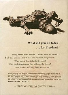 What did you do today ... for freedom?  US Office of Civilian Defense  Frederic Stanley  1943