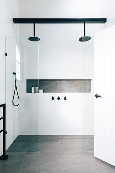 More click [.] Bathroom Shower Design Beautiful Emily Henderson Bathroom Trends 2019 Pioneer Craftsmen 10 Of The Most Exciting Bathroom Design Trends For 2019 Bathroom Trends, Bathroom Renovations, Bathroom Inspo, Remodel Bathroom, Bathroom Ideas White, Bling Bathroom, Peach Bathroom, Bathroom Accents, Bathroom Goals