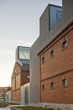 Rehabitation of Former Prison as Cultural Civic Center // Exit Architects Industrial Architecture, Brick Architecture, Contemporary Architecture, Architecture Details, Interior Architecture, Brick Building, Building Design, Parasite Architecture, Conservation Architecture