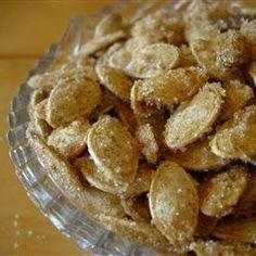 Photo recette : Graines de citrouille aux épices et caramélisées
