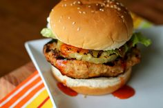"""Sweet and Sour Chicken Burgers- looks really nice, and """"ready to eat!"""" if u know what im saying! :)"""