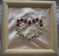 DIY - Kursy krok po kroku - rękodzieło: Różane serduszko, haftem tasiemkowym – Kurs krok p...