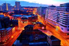 nottingham city center , taken from cranbrook house