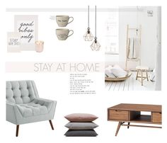 """""""Stay At Home"""" by nmkratz ❤ liked on Polyvore featuring interior, interiors, interior design, home, home decor, interior decorating, Nuevo, Hawkins, Bloomingville and Jonathan Adler"""