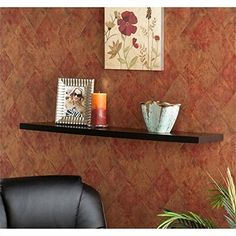 Pemberly Row Floating Shelf in Black *** You can find out more details at the link of the image. (This is an affiliate link) #FloatingShelves