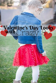 Crazy In Love with Crazy 8 | Valentine's Day Looks - Love - Hearts - Roses - Fashion - Style - Kid Looks - Jean Jacket - Crazy 8 Kid #crazy8kid