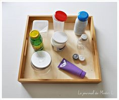 DIY activité Montessori, visser-dévisser, motricité fine / fine motor activities