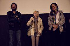 Directora Gloria Laso y Carmen Barros en presentación Documental Viejos Amores teatro Condell  Valparaíso