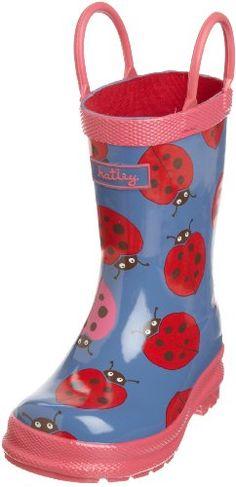 Hatley Girls 2-6X Children's Nordic Bugs Rubber Boot, Coronet Blue, 10