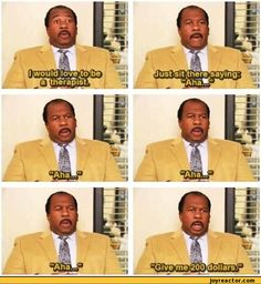 I would love to be a therapist / the office :: tv shows :: funny pictures :: doctor Parks N Rec, Parks And Recreation, Dundee, The Office Show, Office Tv, School Office, Office Jokes, Michael Scott, Michael Jackson
