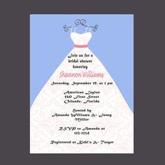 Bridal Shower Invitation Wedding Shower by DigitalDesignsByDawn