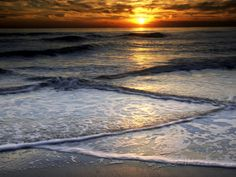Sunset Reflection on Beach, Cape May, New Jersey, USA Photographic Print by Jay O'brien at AllPosters.com